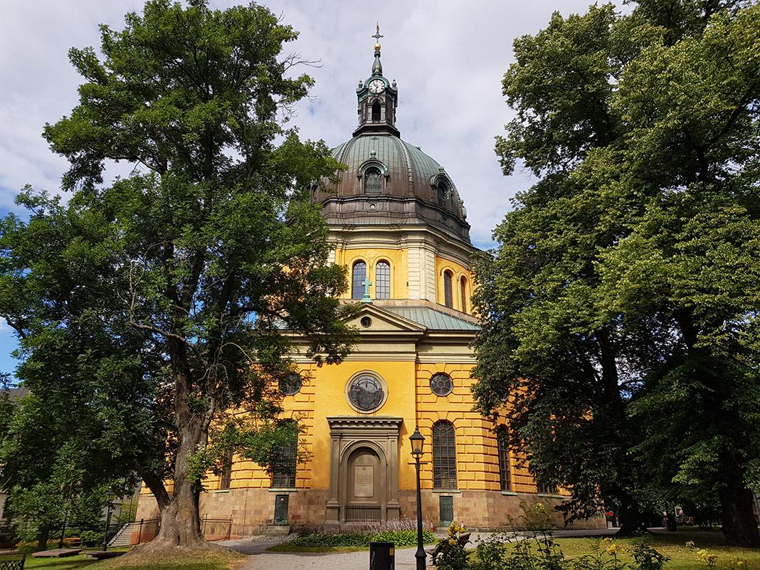 Hedvig Eleonora kyrka ligger på Östermalm i Stockholm